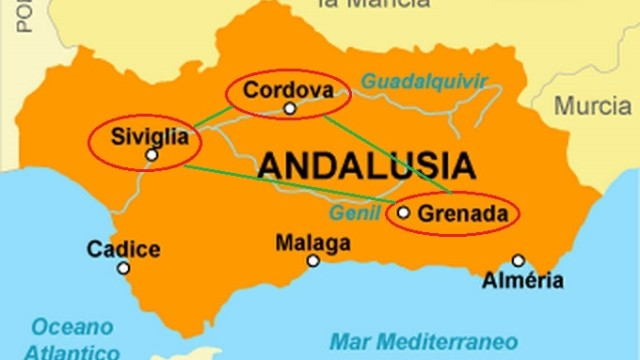 Cartina-L'Andalusia araba