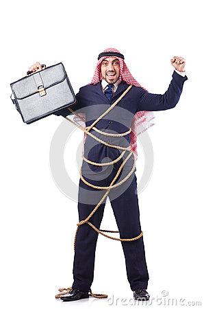 arab-man-tied-up-rope-white-31039682