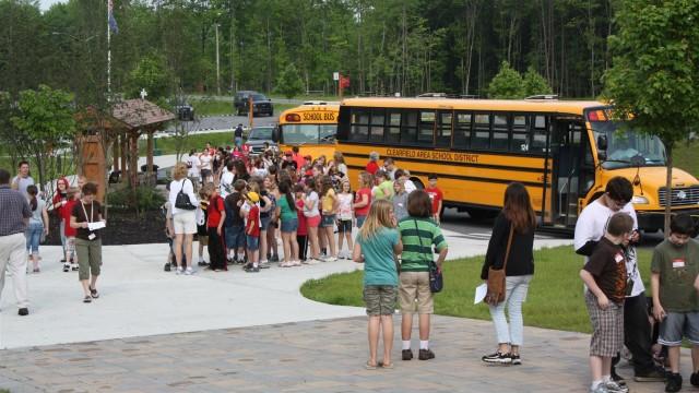 School Bus arrival (Large)